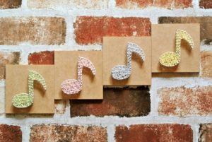 8分音符壁アート