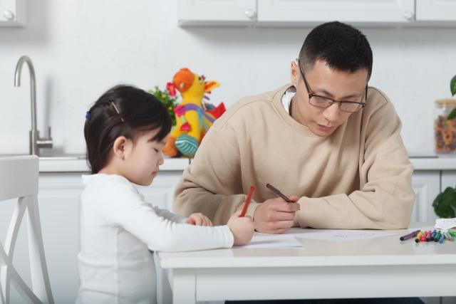 パパとお勉強