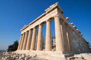 ギリシャアテネのパルテノン神殿